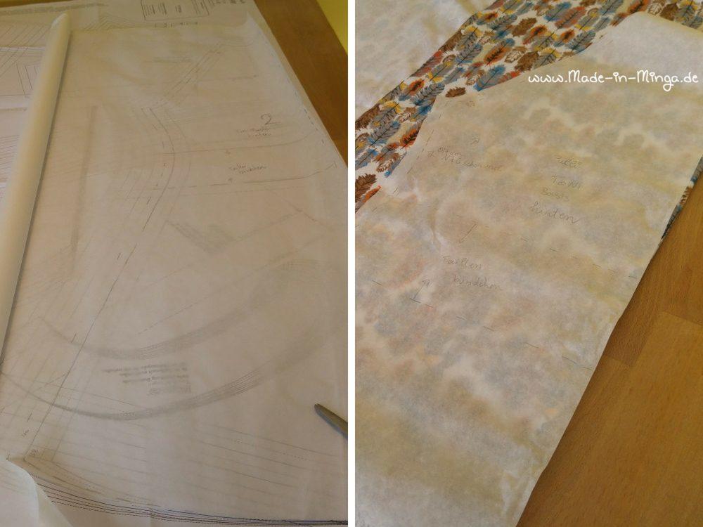 Schnittmuster für ein Kleid, gekürzt auf Shirt-Länge