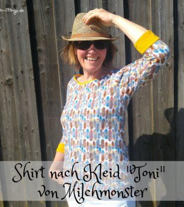 Toni von Milchmonster, Raglankleid als Shirt nähen