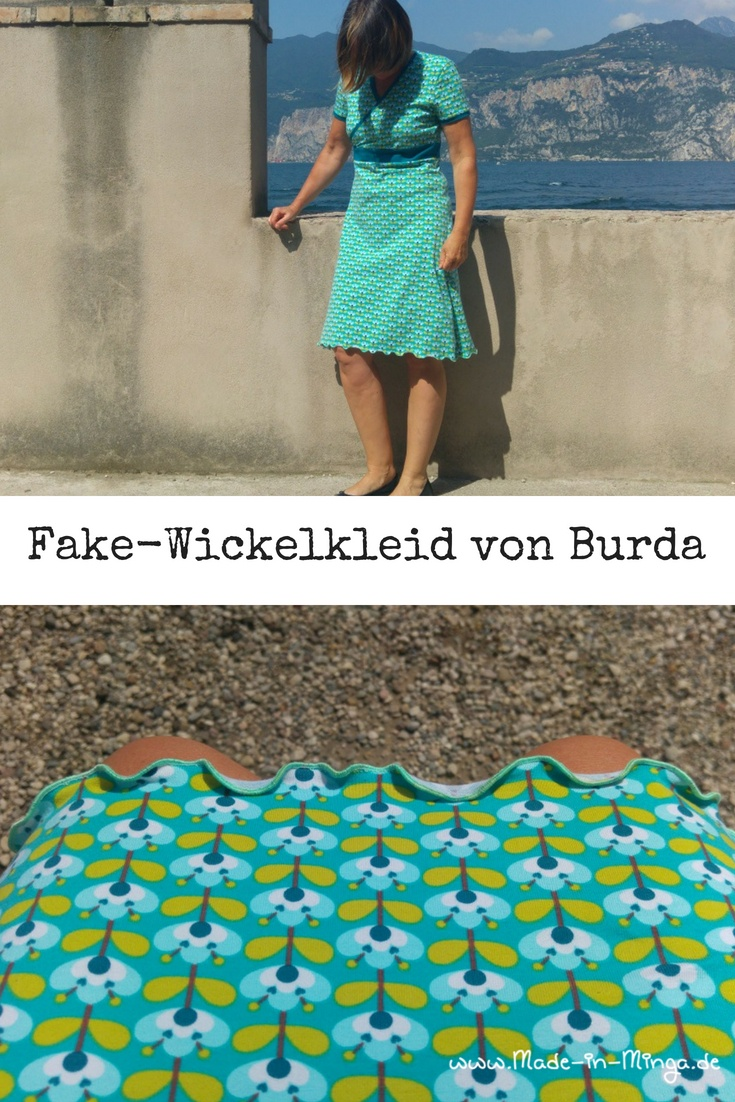 Kleid in wickeloptik von Burda