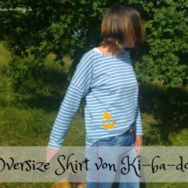 Streifenshirt in Oversize mit Anker Applikation