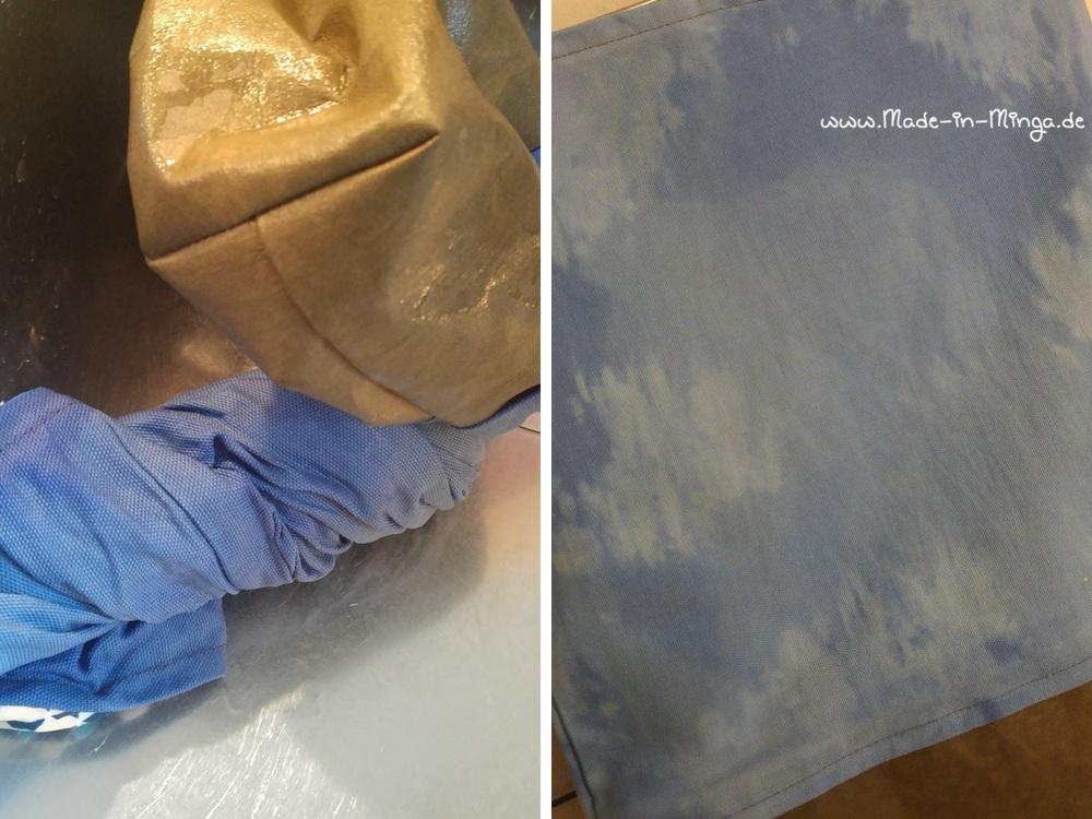 Canvas mit Chlorreiniger aufhellen