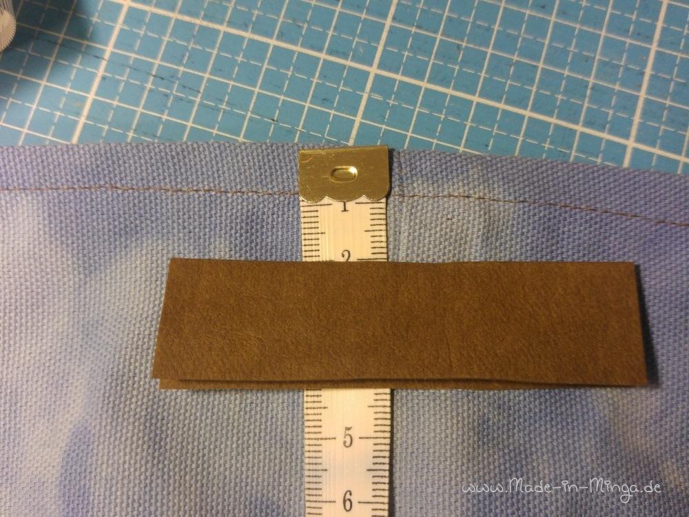 Die Snappap Streifen mittig an den Seiten ausrichten