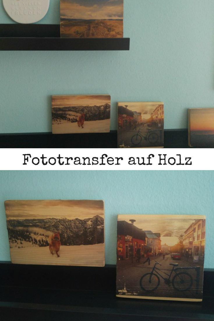 Fotowand Fototransfer auf Holz