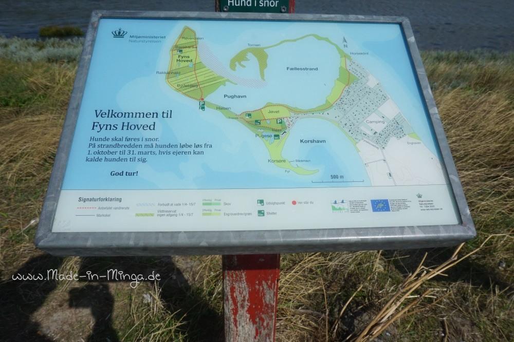 Landkarte des Naturschutzgebietes Fyns Hoved