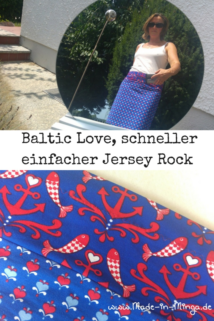 schnellen Jersey rock nähen, Baltic Love von Lillestoff