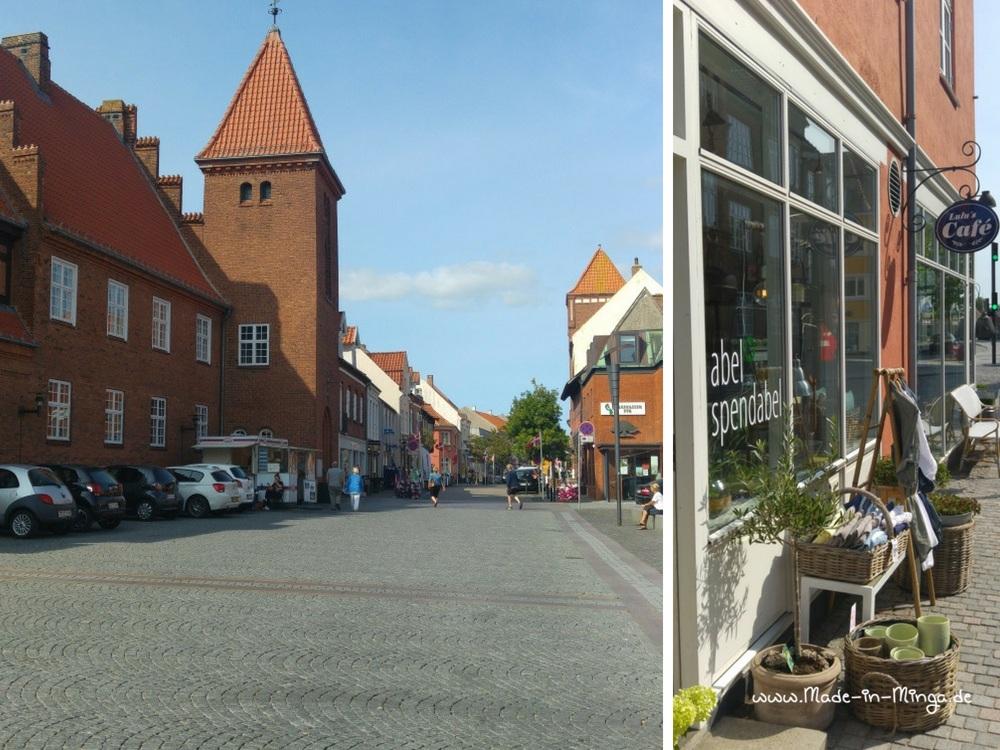 Kerteminde Innenstadt, Einkaufsbereich und Boutique