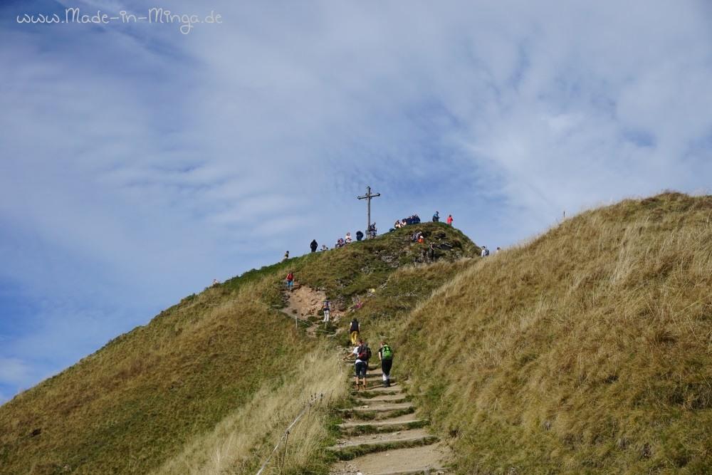 Gipel der Rotwand mit Gipfelkreuz