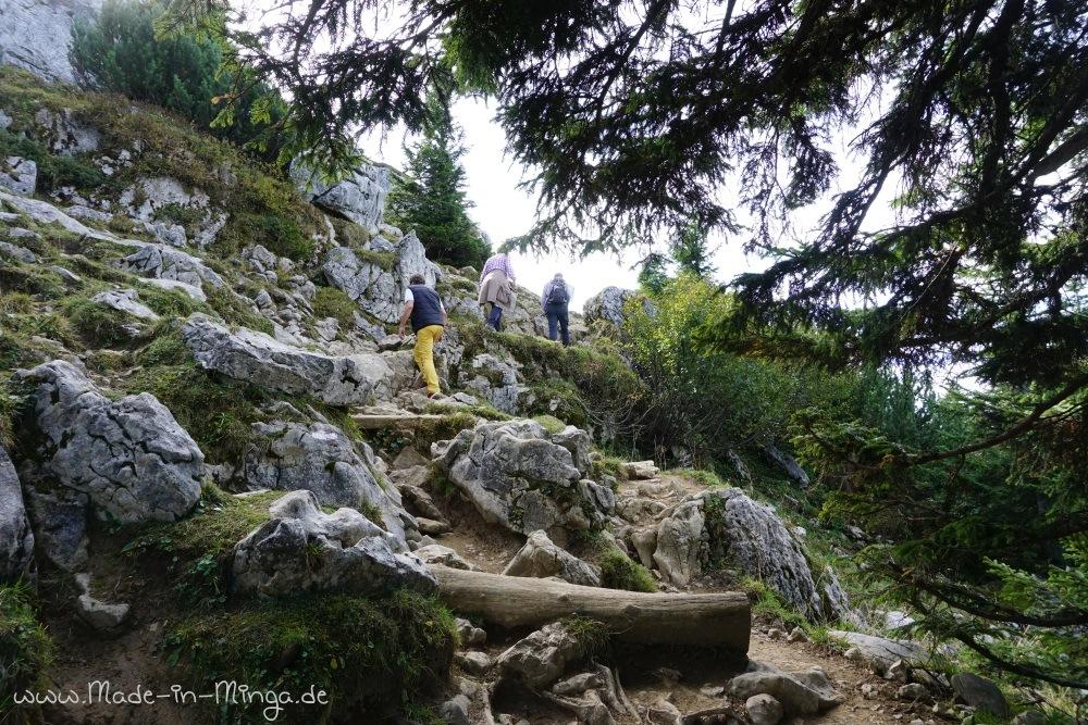 WAnderweg ausgehend von der Bergstation der Taubensteinbahn