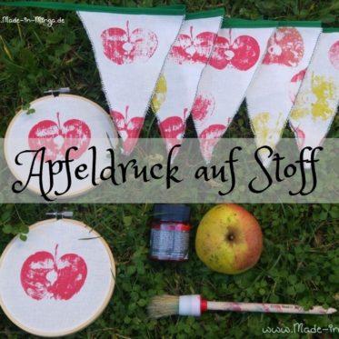 Apfeldruck DIY Anleitung auch für Kinder