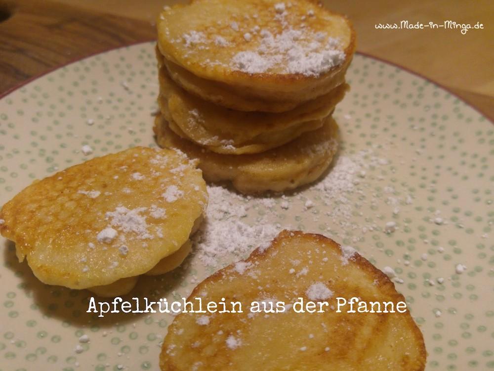 Apfelküchlein in der Pfanne gebacken