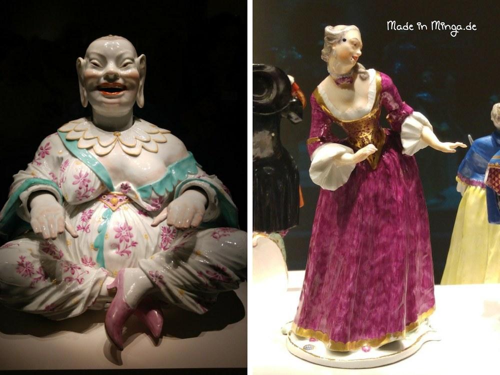 Chinesische Wackelpagode und Porzellanfigur