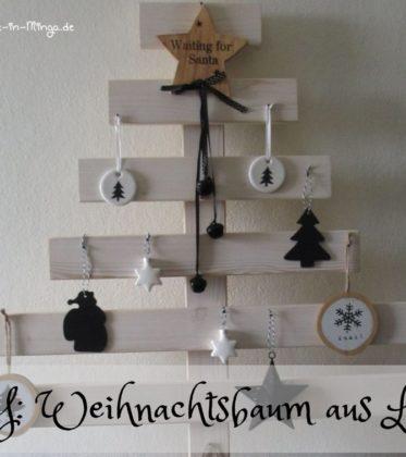 DIY für einen Weihnachtsbaum aus Holzlatten