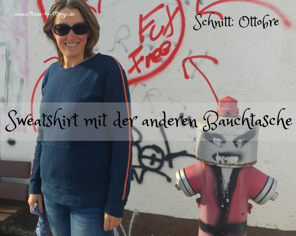 Pullover von Ottobre mit Quernaht und Taschen