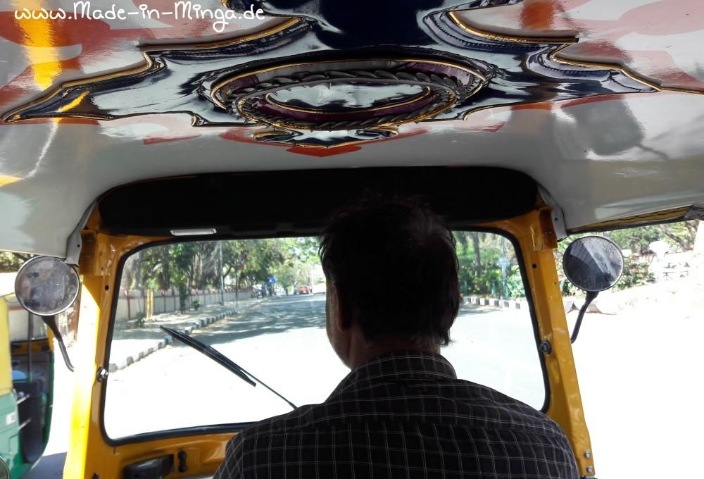 Rikschafahrt durch Bangalore