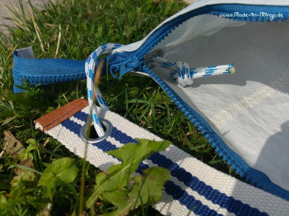 Segeltuchtasche mit Kordel und Gurtband als Träger - made-in-minga.de