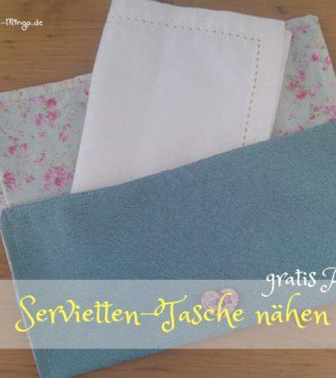 Serviettentasche nähen, gratis Anleitung