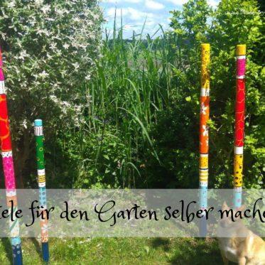 Gartenstele - bunte Deko für den Garten aus Holz