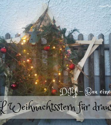 Weihnachststern für den Garten in XXL