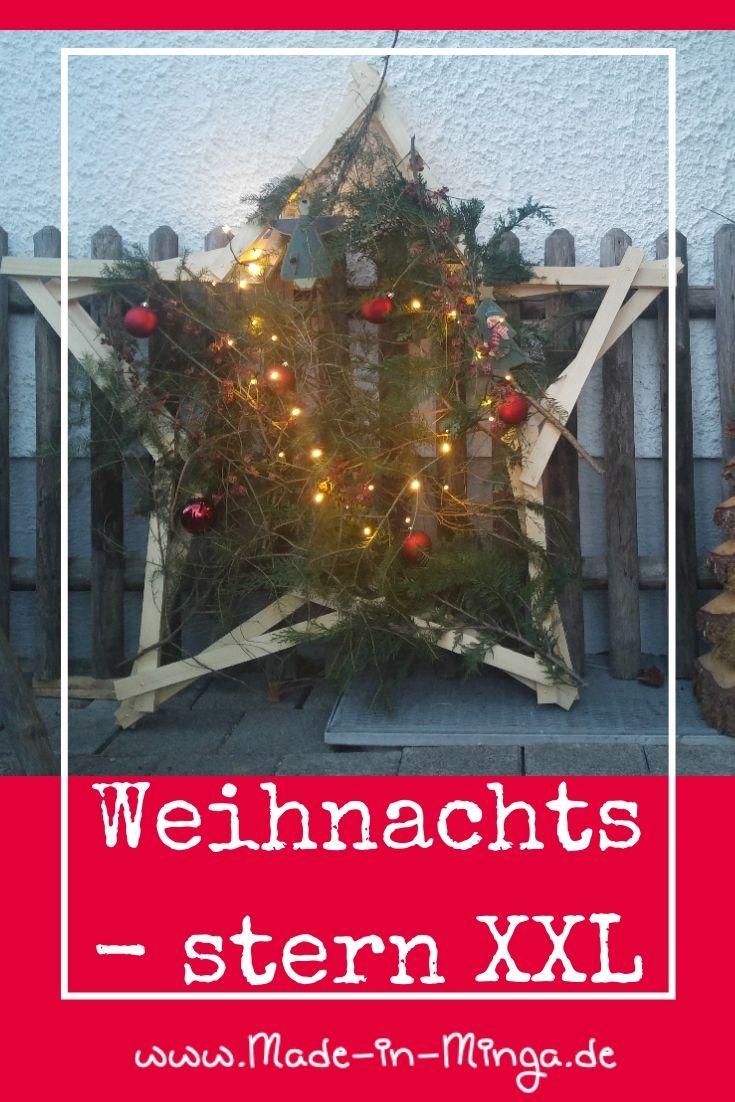 grossen Weihnachtsstern  aus holzatten basteln