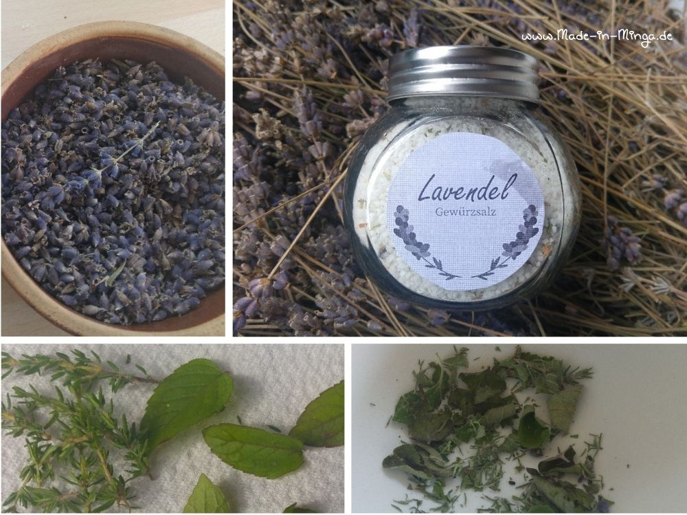 Lavendelsalz aus Gartenkräutern
