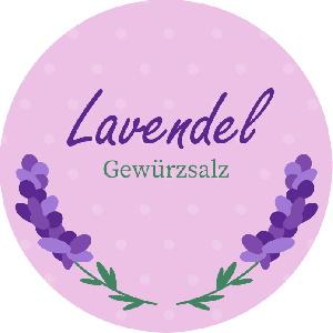 Etikett für ein Glas Gelee mit Lavendel