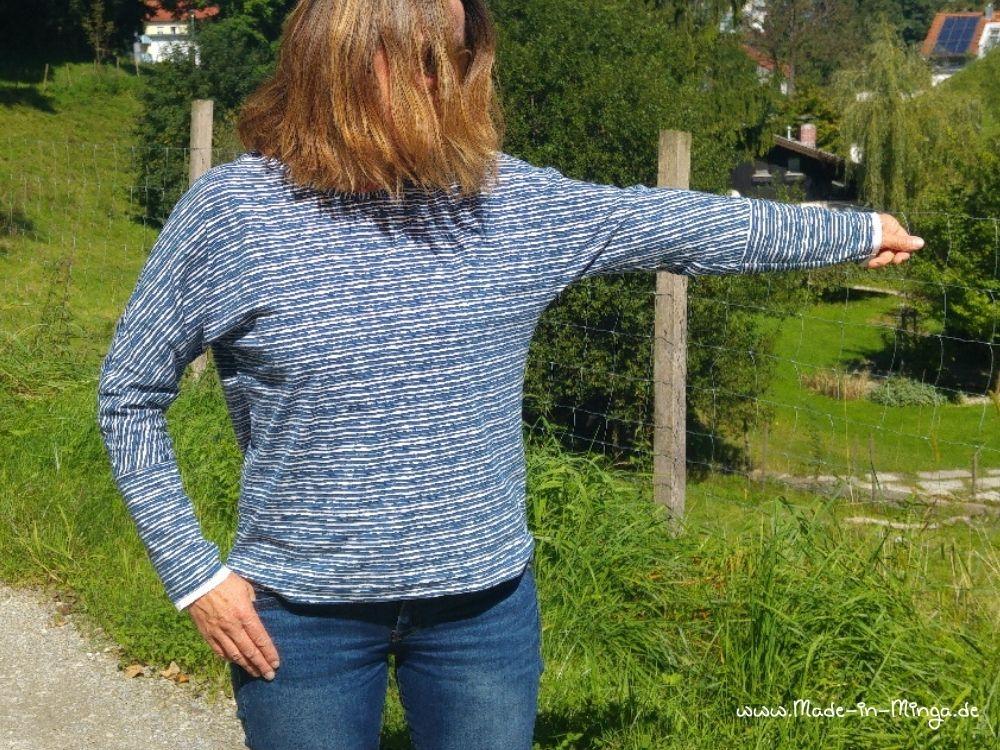 Feldermaus-Shirt Ärmelweite mit Armbündchen